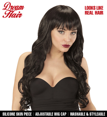 BLACK MELANIA DREAM HAIR WIG in colour box