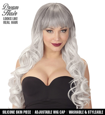 BLACK-GREY MELANIA DREAM HAIR WIG in colour box
