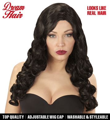BLACK RIHANNA DREAM HAIR WIG in colour box