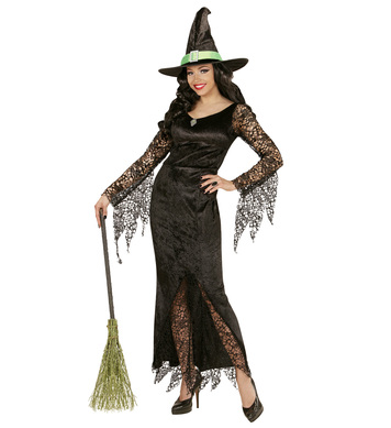 LACY WITCH (dress with gem hat)