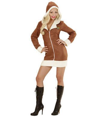 AVIATOR GIRL (hooded dress)