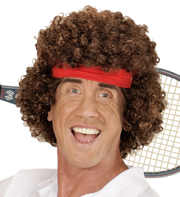 TENNIS PLAYER WIG BROWN