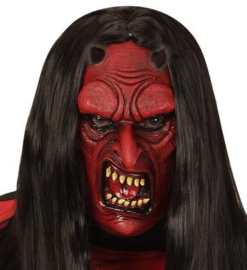 DEVIL HALF FACE MASK - CHILD