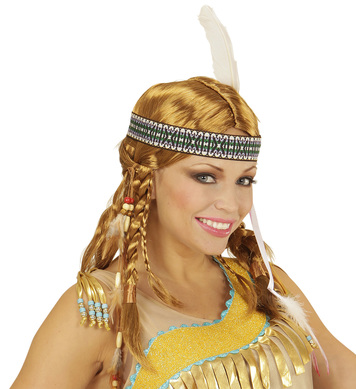 CHIPPEWA INDIAN WIG W/HEADBAND