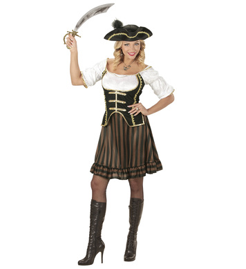 PIRATE CAPTAIN (dress with corset hat with feather)
