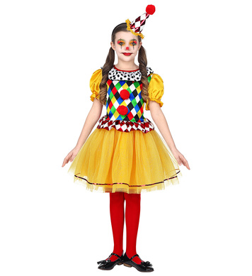 CLOWN (tutu dress, mini hat) Childrens