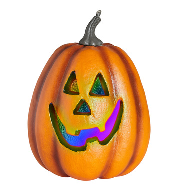 HALLOWEEN PUMPKIN W/COLOR CHANGING FLASHING LED LIGHT 23cm