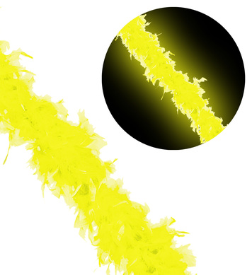 NEON FEATHER BOA 180cm - YELLOW