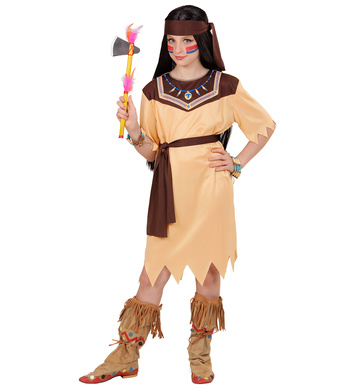 INDIAN GIRL (dress, belt, headband) Childrens