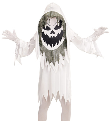 EVIL GHOST BIG HEAD COSTUME Childrens