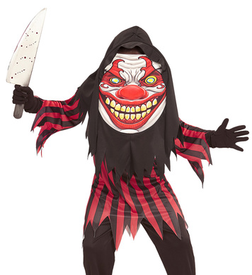 HORROR CLOWN BIG HEAD COSTUME Childrens