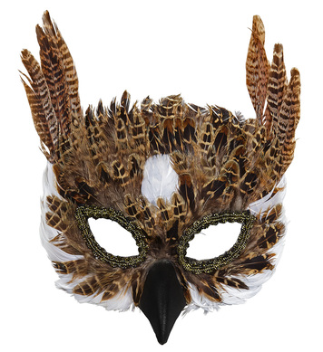 OWL FEATHER MASK