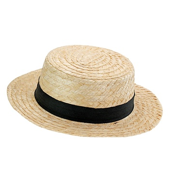 CHEVALIER STRAW BOATER HAT DELUXE