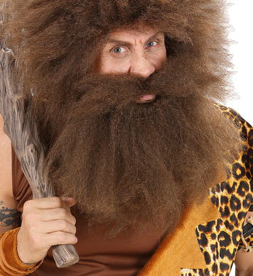 CAVEMAN BEARD IN POLYBAG - BROWN