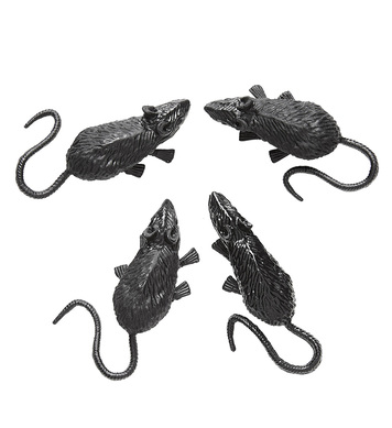 SET OF 4 BLACK MICE