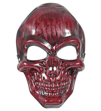 RED METALLIC SKULL MASK