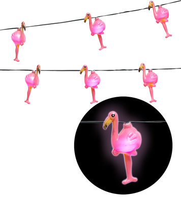LIGHT CHAIN GARLAND FLAMINGOS
