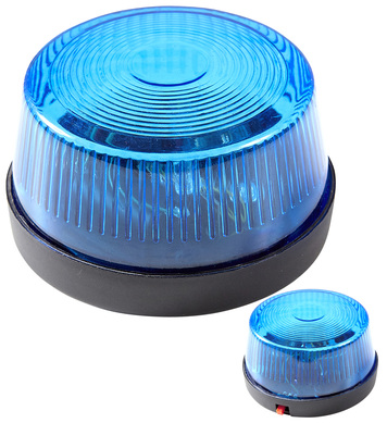 BLUE FLASHING WARNING LIGHT WITH SIREN