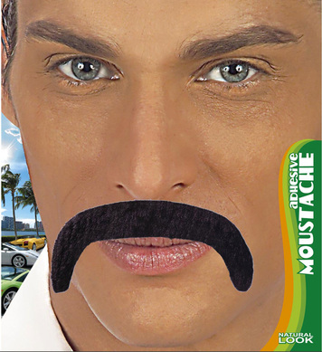MACHO MOUSTACHE ADHESIVE - BLACK