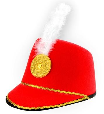 MAJORETTE HAT - CHILD SIZE - RED