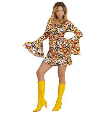 GROOVY 70s LADY DRESS - BUBBLES