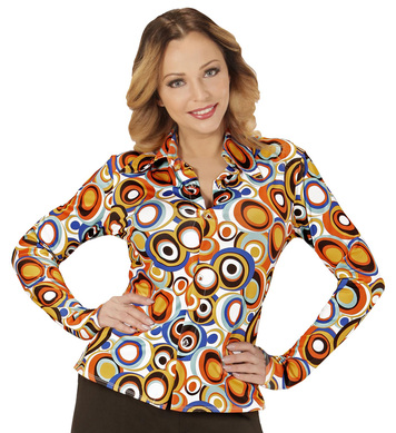 GROOVY 70s LADY SHIRT - BUBBLES