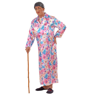 FLASHER GRANNY COSTUME (jumpsuit dressing gown)