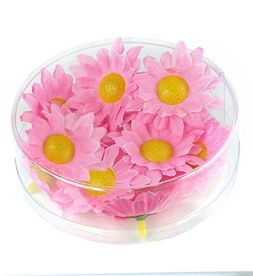 BOX OF 20 DECORATIVE DAISY FLOWERS - PINK