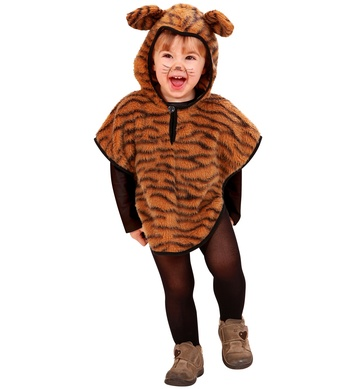 PLUSH TIGER (hooded poncho) Childrens