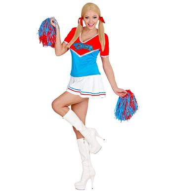 CHEERLEADER - Red/Blue (dress 2 pom poms)