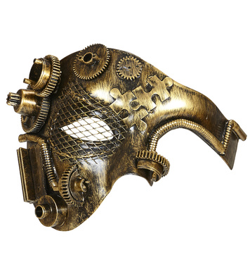 COPPER STEAMPUNK HALF FACE MASK