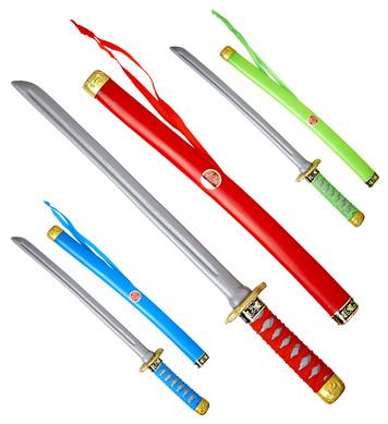 JAPANESE KATANA WITH SCABBARD 60cm - 3 colors asstd.