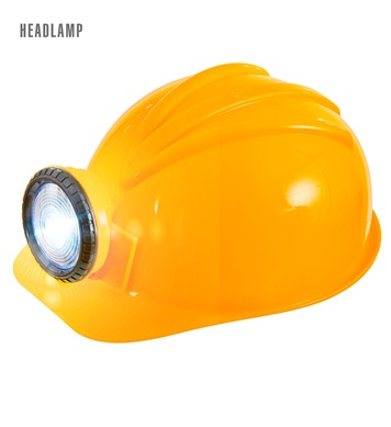 CONSTRUCTION HELMET W/HEADLAMP (batteries not included)
