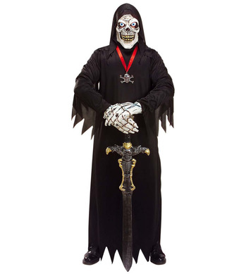 DEATH SKELETON SET - MASK COSTUME HANDS