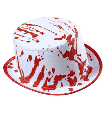 BLOODY TOP HAT - WHITE
