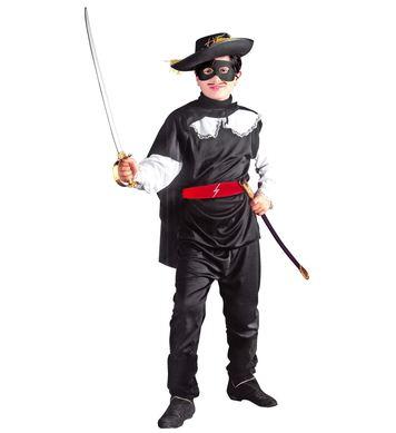 BANDIT COSTUME (coat pants belt cape eyemask) Childrens