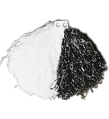 POM POM SINGLE - BLACK/WHITE