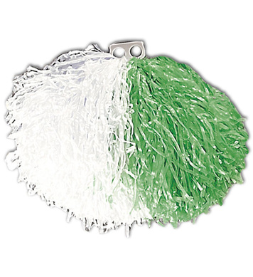 POM POM SINGLE - GREEN/WHITE