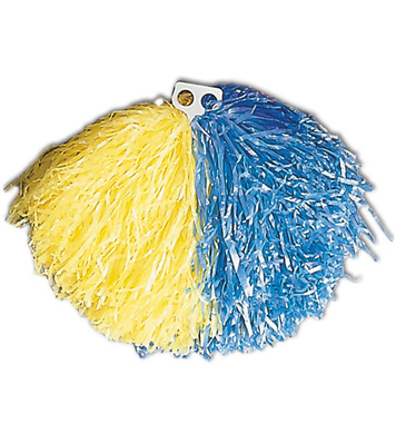 POM POM SINGLE - YELLOW/BLUE