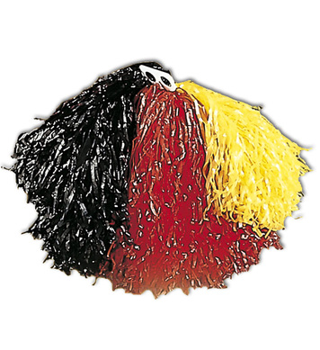 POM POM SINGLE - BLACK RED YELLOW