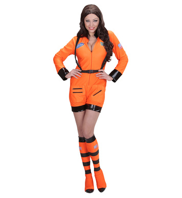 ORANGE ASTRONAUT LADY - L (jumpsuit boot covers)