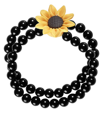 BEADED HIPPIE SUNFLOWER BRACELET