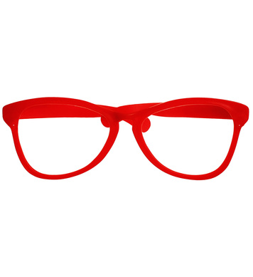 GIANT CLOWN GLASSES - RED