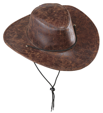 COWBOY HAT LEATHERLOOK