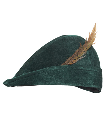 PRINCE OF THIEVES HAT WITH FEATHER