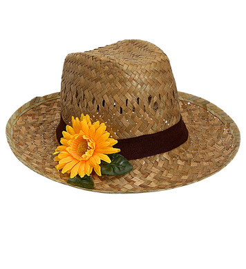 FARMER HAT WITH SUNFLOWER