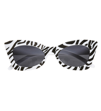 ZEBRA ROCKABILLY GLASSES