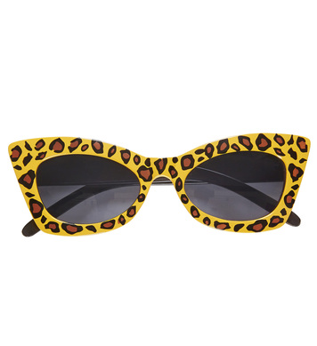 LEOPARD ROCKABILLY GLASSES