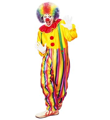 CIRCUS CLOWN COSTUME (jumpsuit with collar and braces)