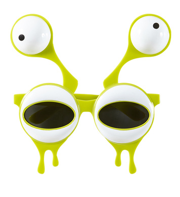 ALIEN GLASSES WITH DOUBLE EYES